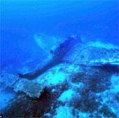 Xác máy bay ném bom của Đức còn nguyên vẹn dưới đáy biển