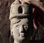 Phát hiện đầu tượng nữ thần La Mã 1800 năm tuổi