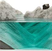 Độc đáo nghệ thuật điêu khắc bằng kính về sóng biển