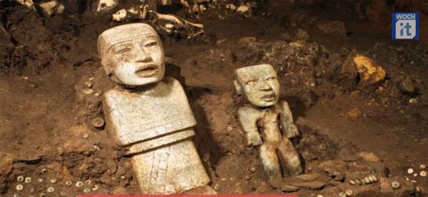 Video: Di vật cổ trong đường hầm ở Mexico