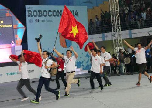 Vinh danh đội vô địch robocon châu Á - Thái Bình Dương 2014