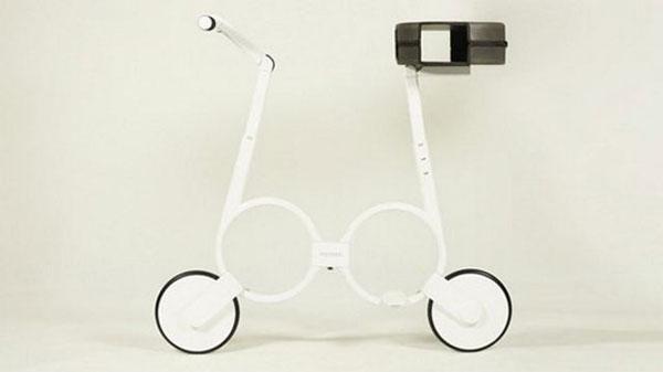 Xe đạp điện tí hon, gấp gọn vào ba lô