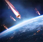 Bản đồ cho thấy Trái đất liên tục bị các thiên thạch tấn công