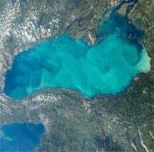 """Nước hồ biến thành """"thạch"""" vì ô nhiễm"""