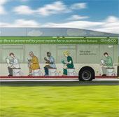 Xe buýt chạy bằng chất thải con người