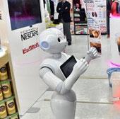 Robot bán máy pha cafe