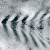 Đám mây dạng sóng kỳ lạ ở Ấn Độ dương