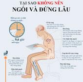 Tại sao không nên đứng và ngồi lâu
