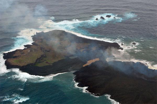 Đảo núi lửa Nhật Bản to ra gấp 10 lần