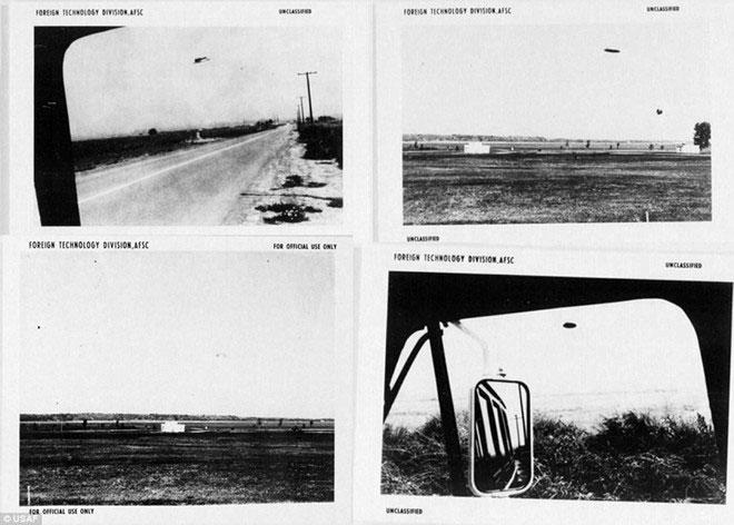 Mỹ công bố loạt ảnh bí mật về UFO