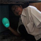 Hòn đá phát sáng bí ẩn trong bóng đêm ở Đồng Nai