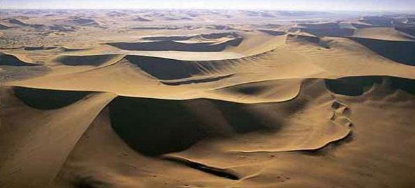 Hầu hết sa mạc trên Trái Đất không được cấu tạo hoàn toàn từ cát