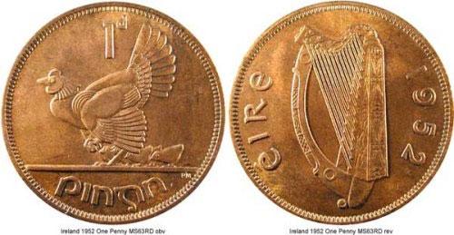 Đồng 1 xu của Ireland