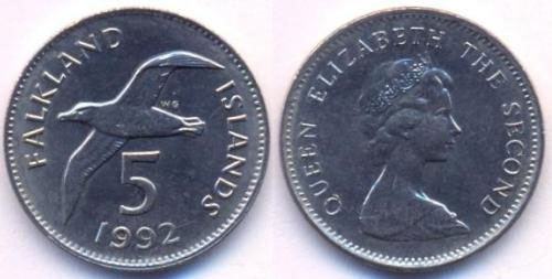 Đồng 5 xu của đảo Falkland