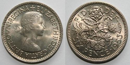 Đồng 6 xu của Anh