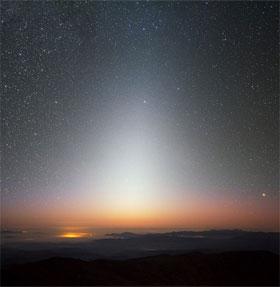 Lý giải hiện tượng ánh sáng hoàng đạo