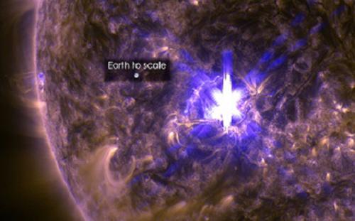 Tai lửa Mặt Trời bùng phát, hướng về Trái Đất