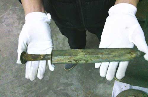 Thanh kiếm 2.000 năm tuổi ở Trung Quốc