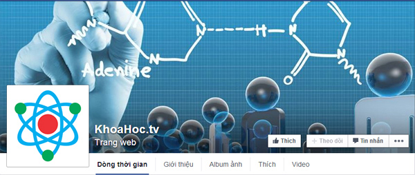 KhoaHoc.TV chính thức ra mắt fanpage