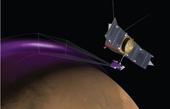 Cực quang tím bí ẩn trên sao Hỏa
