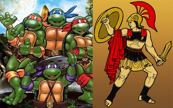 Thực ra, kể cả 4 ninja rùa cộng lại gặp Achilles cũng... mất điện chứ huống gì là chạy thi.