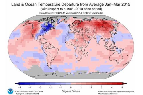 2015 có thể là năm nóng kỷ lục