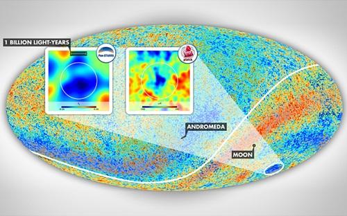 """Phát hiện cấu trúc không gian """"siêu rỗng"""" lớn nhất trong vũ trụ"""