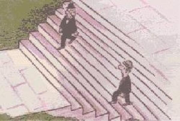 """Giải mã tranh ảo giác """"Chú mèo trên cầu thang"""" gây sốt"""
