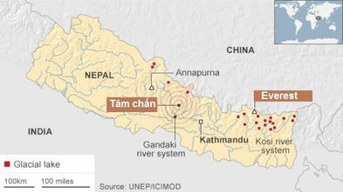 Nguy cơ lũ quét và sạt lở rình rập Nepal