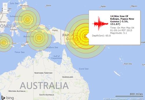 Động đất mạnh ở nam Thái Bình Dương chỉ gây sóng thần nhỏ