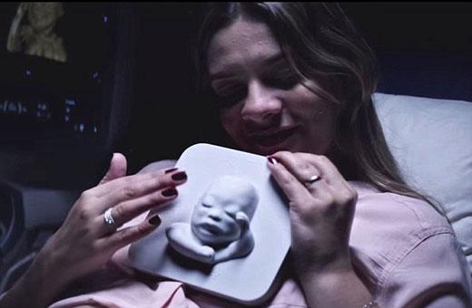 Công nghệ in 3D giúp người mẹ mù nhìn thấy thai nhi