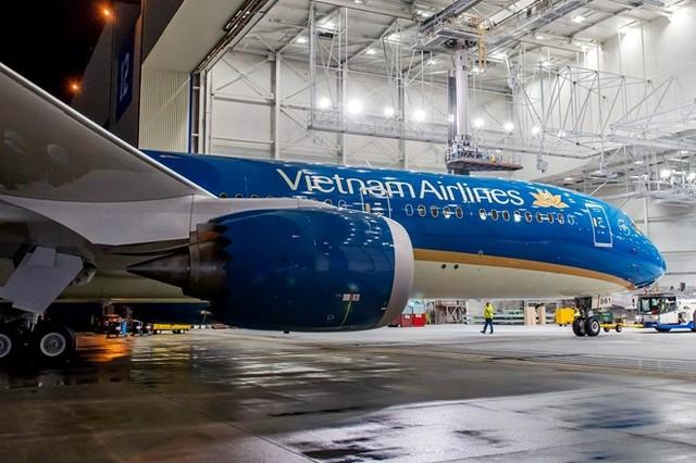 Cận cảnh Boeing 787 đầu tiên của Vietnam Airlines xuất xưởng tại Mỹ