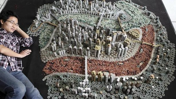 Tạo ra thành phố từ 50.000 đồng xu