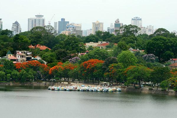 Những khoảng cây xanh của Hà Nội nhìn từ trên cao