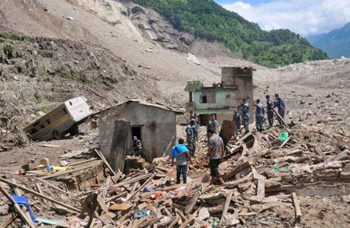 Lở đất ở Nepal, ít nhất 41 người chết