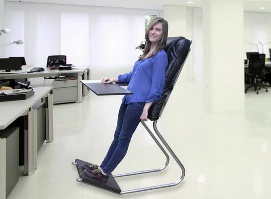 Chiếc ghế độc đáo giúp đứng làm việc
