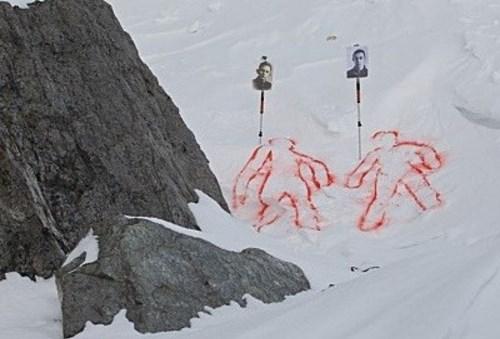 Hiện trường phát hiện thi thể hai sinh viên chết một cách bí ẩn khi đi leo núi.