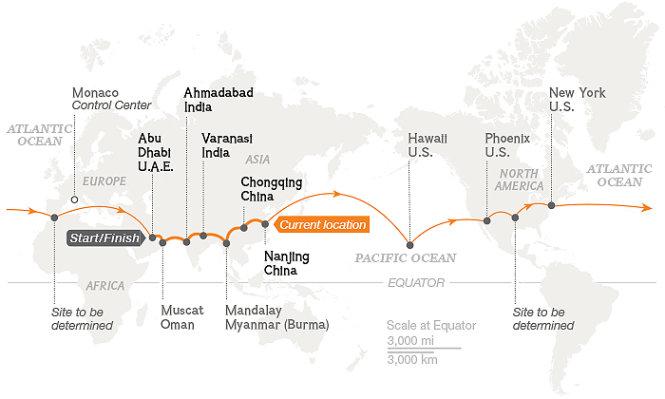Máy bay năng lượng mặt trời vượt Thái Bình Dương