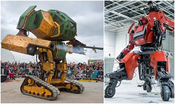Robot MegaBots Mark 2 của Mỹ thách đấu robot Kuratas của Nhật