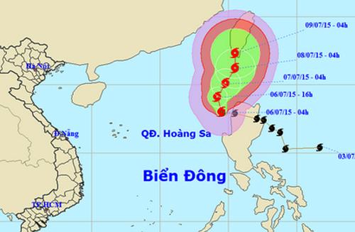 Bão Linfa đã vào biển Đông