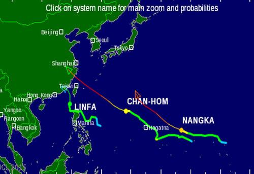 Bão Linfa tiến vào Đài Loan
