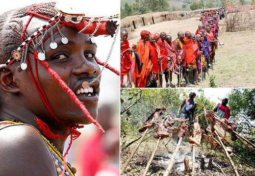Tập tục lạ của dân tộc Masai ở Kenia