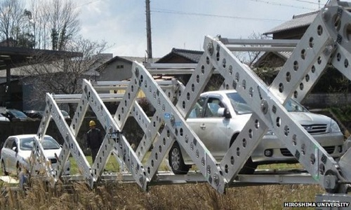 Cầu gấp kiểu origami ở Nhật