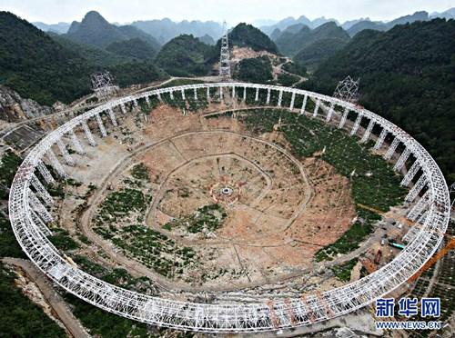 Kinh thiên văn lớn bằng 30 mặt sân bóng đá ở Trung Quốc