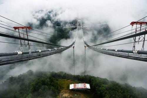 Cầu treo dây võng dài nhất châu Á