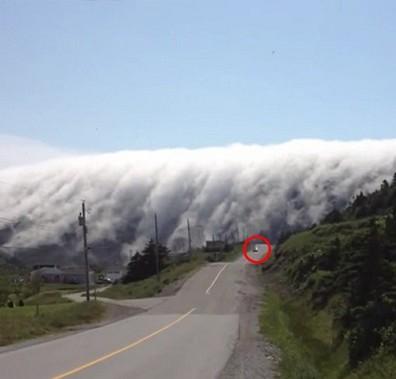 Sương mù tấn công hòn đảo ở Canada