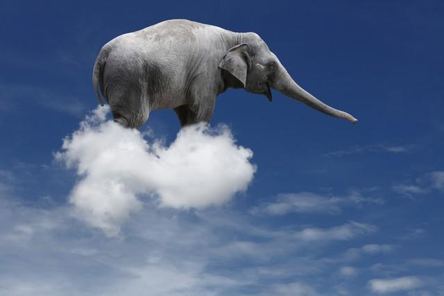 Một đám mây nặng bằng bao nhiêu con voi?