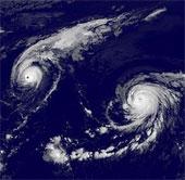 Ba cơn bão nhiệt đới cực hiếm xuất hiện cùng lúc trên Thái Bình Dương
