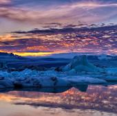 Video: Vẻ đẹp kì vĩ khi Mặt Trời lặn vào nửa đêm ở Iceland