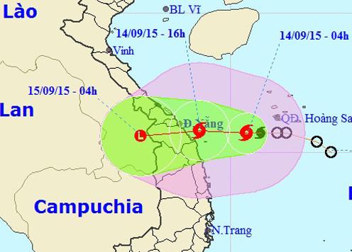 Cơn bão số 3 xuất hiện trên biển Đông, hướng đi vào Đà Nẵng - Quảng Ngãi